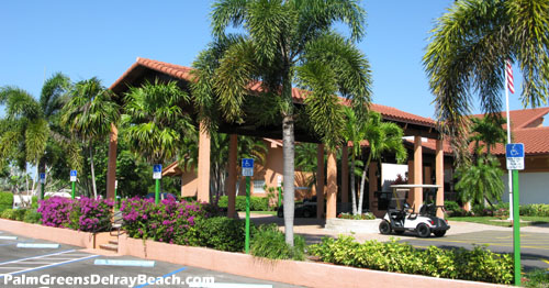 The hub of activity within Palm Greens in Delray Beach, Florida.